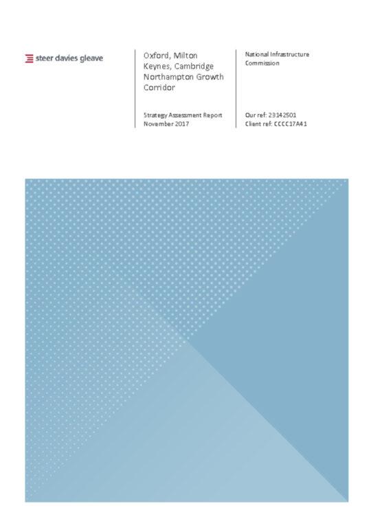 thumbnail of First-Last mile Strategy Assessment Report – Oxford, Milton Keynes, Cambridge, and Northampton Growth Corridor (SDG 2017)