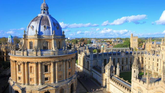 Picture of the rootops across Oxford University