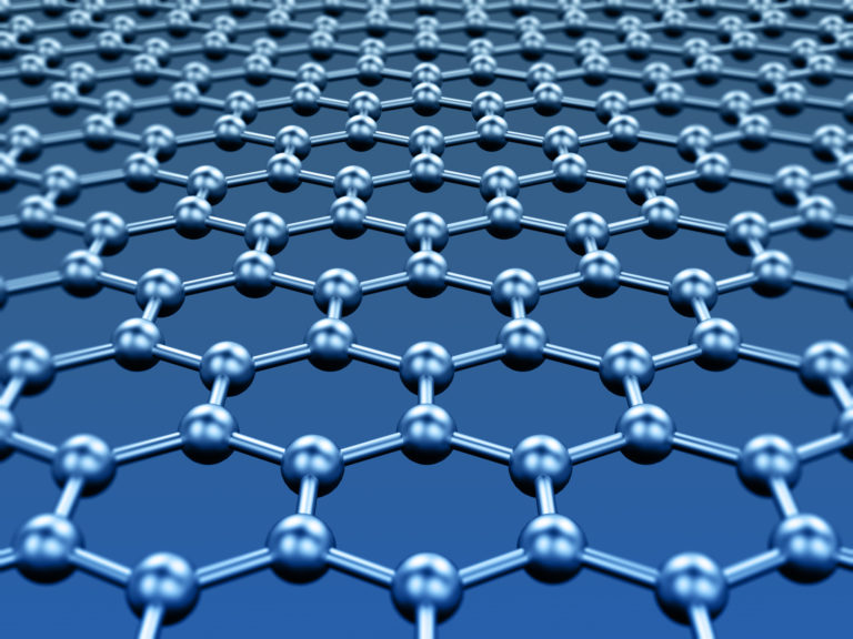 3D model of a crystal lattice